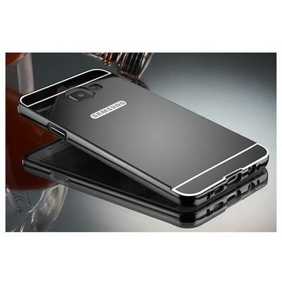 Microsonic Samsung Galaxy A7 2016 Kılıf Luxury Mirror Siyah Cep Telefonu Kılıfı