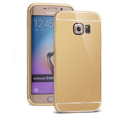Microsonic Samsung Galaxy S6 Edge+ Plus Kılıf Luxury Mirror Gold Cep Telefonu Kılıfı
