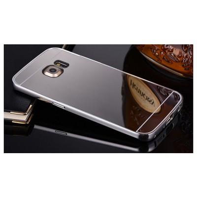 Microsonic Samsung Galaxy S6 Edge+ Plus Kılıf Luxury Mirror Gümüş Cep Telefonu Kılıfı