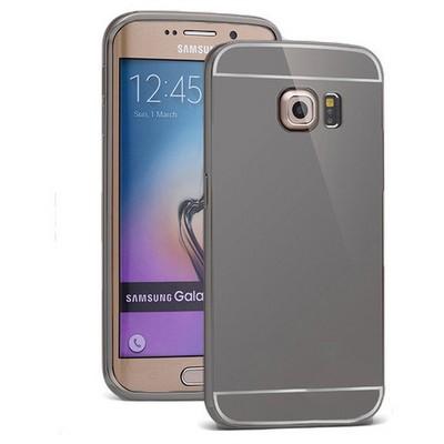 Microsonic Samsung Galaxy S6 Edge+ Plus Kılıf Luxury Mirror Siyah Cep Telefonu Kılıfı
