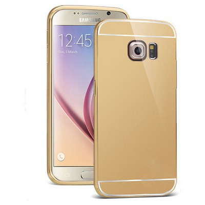 Microsonic Samsung Galaxy S6 Kılıf Luxury Mirror Gold Cep Telefonu Kılıfı