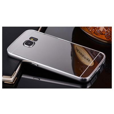 Microsonic Samsung Galaxy S6 Kılıf Luxury Mirror Gümüş Cep Telefonu Kılıfı