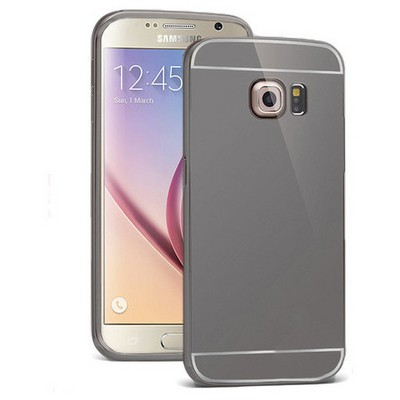 Microsonic Samsung Galaxy S6 Kılıf Luxury Mirror Siyah Cep Telefonu Kılıfı