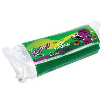 Roll-Up Roll Up Mini Boy Çöp Torbası 10 Adet 40 X 50 Cm Çöp Torbaları