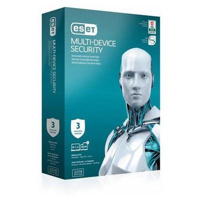 Nod32 Eset Multi Device Security V.9 - 3 Kullanıcı Kutu Güvenlik Yazılımı