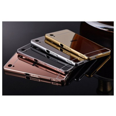 Microsonic Sony Xperia M4 Aqua Kılıf Luxury Mirror Rose Gold Cep Telefonu Kılıfı