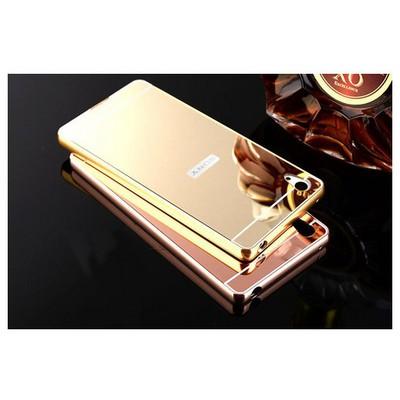 Microsonic Sony Xperia Z5 Kılıf Luxury Mirror Rose Gold Cep Telefonu Kılıfı