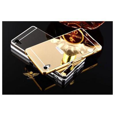 Microsonic Sony Xperia Z3+ Plus (z4) Kılıf Luxury Mirror Gold Cep Telefonu Kılıfı