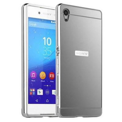 Microsonic Sony Xperia Z3+ Plus (z4) Kılıf Luxury Mirror Gümüş Cep Telefonu Kılıfı