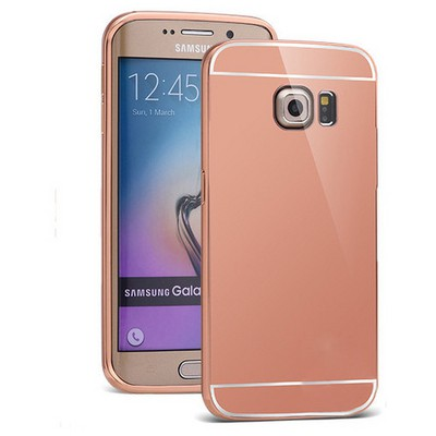 Microsonic Samsung Galaxy S6 Edge+ Plus Kılıf Luxury Mirror Rose Gold Cep Telefonu Kılıfı