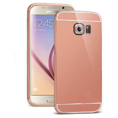 Microsonic Samsung Galaxy S6 Kılıf Luxury Mirror Rose Gold Cep Telefonu Kılıfı
