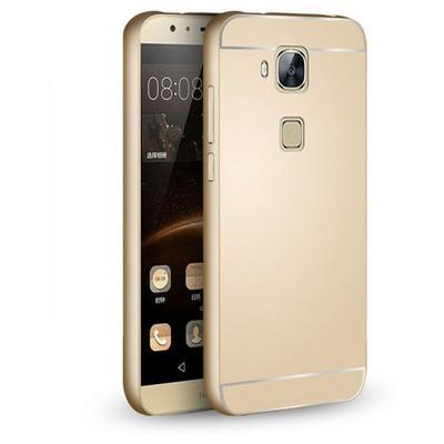 Microsonic Huawei Ascend G8 Kılıf Luxury Mirror Gold Cep Telefonu Kılıfı