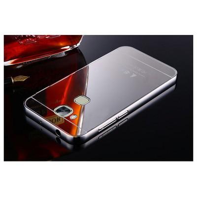 Microsonic Huawei Ascend G8 Kılıf Luxury Mirror Gümüş Cep Telefonu Kılıfı