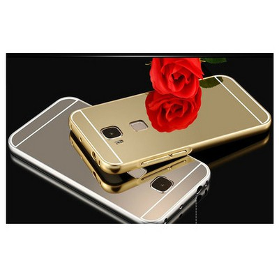 Microsonic Huawei Ascend G8 Kılıf Luxury Mirror Siyah Cep Telefonu Kılıfı