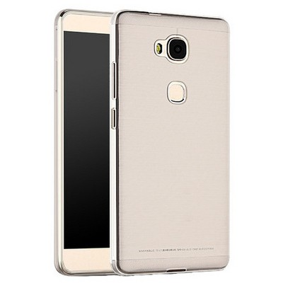 Microsonic Huawei Gr5 (honor 5x/x5) Kılıf Transparent Soft Beyaz Cep Telefonu Kılıfı