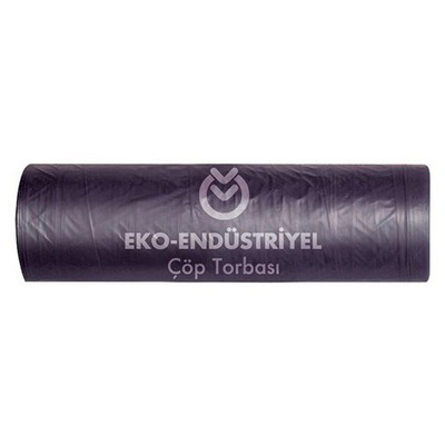 Koroplast Eko Endüstriyel Çöp Poşeti Orta Boy 55x60 cm Siyah 20 Rulo Çöp Torbaları
