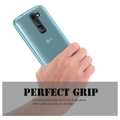 Microsonic Lg K10 Kılıf Transparent Soft Mavi Cep Telefonu Kılıfı