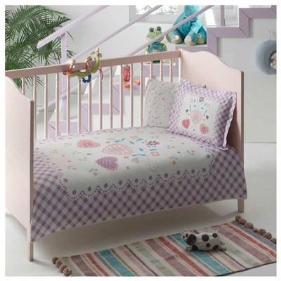 Taç Tekstil Taç Happy Baby Bio Bebek Pike Takımı - Lila Nevresim / Pike Takımı
