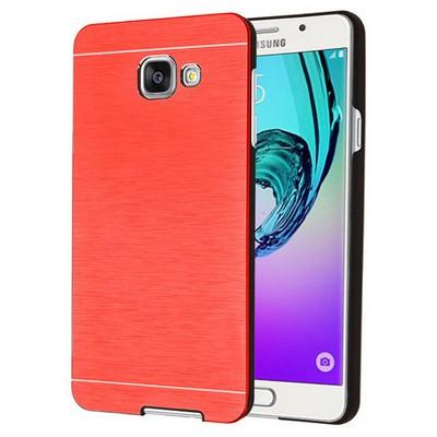 Microsonic Samsung Galaxy A7 2016 Kılıf Hybrid Metal Kırmızı Cep Telefonu Kılıfı
