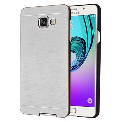 Microsonic Samsung Galaxy A7 2016 Kılıf Hybrid Metal Gümüş Cep Telefonu Kılıfı