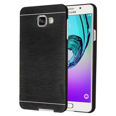 Microsonic Samsung Galaxy A7 2016 Kılıf Hybrid Metal Siyah Cep Telefonu Kılıfı