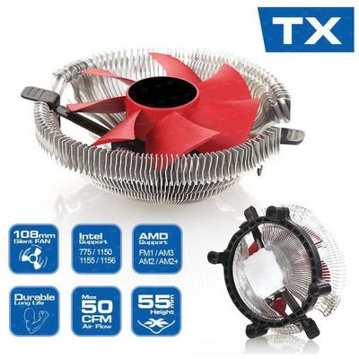 TX Ccsw108p 10cm 4 Pin Pwm lı Intel Lga 1150/55/56 Ve Amd Işlemci Soğutucu Fan