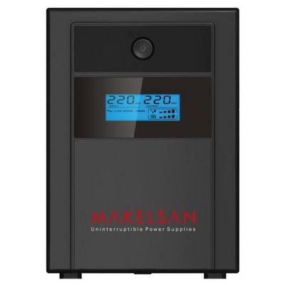 Makelsan Mu01500l11pl005 1500va,line-interactive,2 Adet 12v 9ah Yuasa Akü,lcd Ekran,usb,lion Plus Kesintisiz Güç Kaynağı