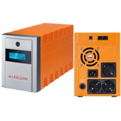 Makelsan Mu02000l11pl005 2000va,line-interactive,2 Adet 12v 9ah Yuasa Akü,lcd Ekran,usb,lion Plus Kesintisiz Güç Kaynağı