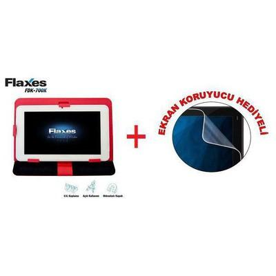 "Flaxes FDK-700K Üniversal 7"" Kırmızı Tablet Kılıfı"