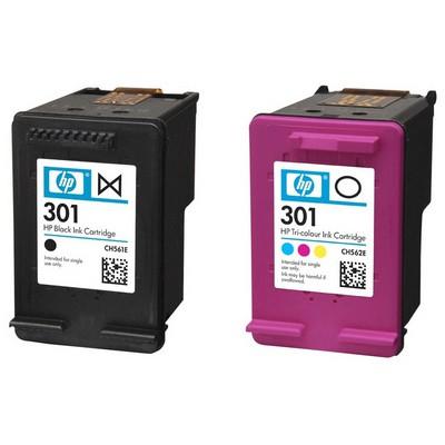 HP 301 2'li Paket Siyah+Renki N9J72A Kartuş