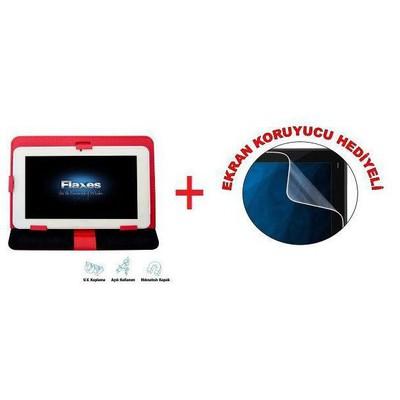 "Flaxes FDK-800K Üniversal 8"" Kırmızı Tablet Kılıfı"