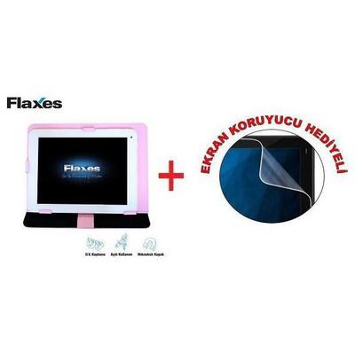 Flaxes Fdk-800p Fdk-800p  8 Inc. Pembe Ayarlanabilir Hediyeli Tablet Kılıfı
