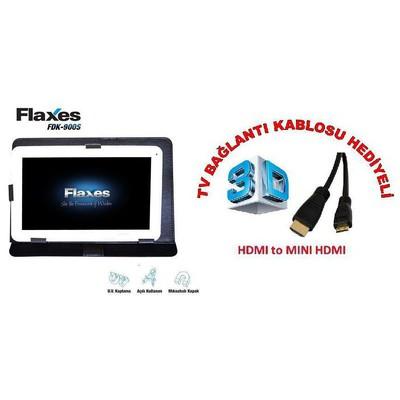 "Flaxes FDK-900S Üniversal 9"" Siyah Tablet Kılıfı"