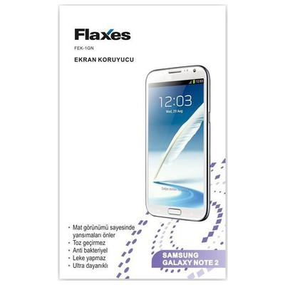 Flaxes Fek-1gn Flaxes Fek-1gn Galaxy Note 2 Uyumlu Mat Ekran Koruyucu Ekran Koruyucu Film