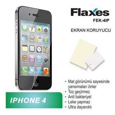 Flaxes Fek-4ıp Flaxes Fek-4ıp Iphone 4s Uyumlu Mat Ekran Koruyucu Ekran Koruyucu Film
