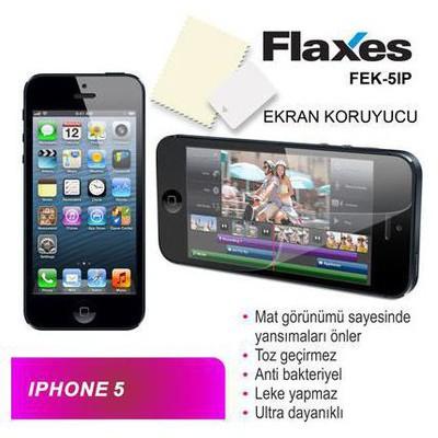 Flaxes Fek-5ıp Flaxes Fek-5ıp Iphone 5 Uyumlu Mat Ekran Koruyucu Ekran Koruyucu Film