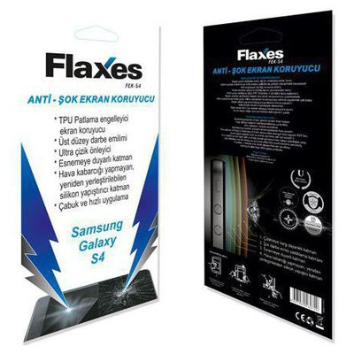 Flaxes Fek-s4 Flaxes Fek-s4 Galaxy S4 Uyumlu Anti-şok Ekran Koruyucu Ekran Koruyucu Film