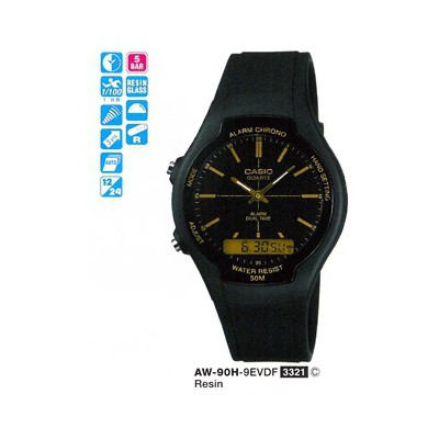 Casio AW-90H-9EVDF Analog-Digital Erkek Kol Saati