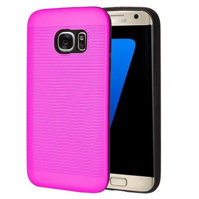 Microsonic Samsung Galaxy S7 Edge Kılıf Linie Anti-shock Pembe Cep Telefonu Kılıfı