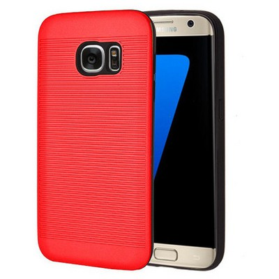 Microsonic Samsung Galaxy S7 Edge Kılıf Linie Anti-shock Kırmızı Cep Telefonu Kılıfı