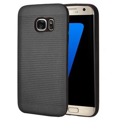 Microsonic Samsung Galaxy S7 Edge Kılıf Linie Anti-shock Siyah Cep Telefonu Kılıfı