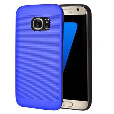 Microsonic Samsung Galaxy S7 Kılıf Linie Anti-shock Mavi Cep Telefonu Kılıfı
