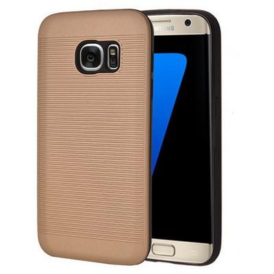 Microsonic Samsung Galaxy S7 Kılıf Linie Anti-shock Gold Cep Telefonu Kılıfı
