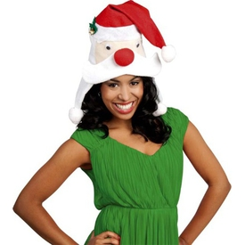 Parti Paketi Noel Baba Kafası Şapka Kostüm Şapkası