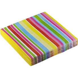 Parti Paketi Fiesta Renkli Çizgiler,peçete Parti Peçetesi