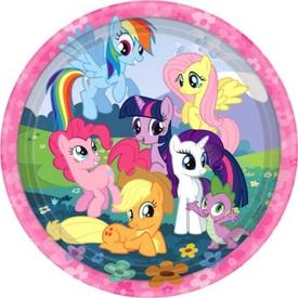 Parti Paketi My Little Pony And Friends, Büyük Tabak 8'li Parti Tabağı