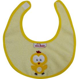 Sevi Bebe 21 Küçük Havlu Önlük Sarı Bebek Besleme
