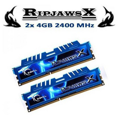 G.Skill RipjawsX 2x4GB Desktop Bellek - (F3-2400C11D-8GXM)