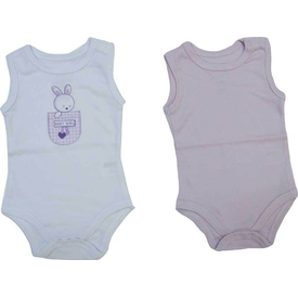 Zeyland K-61h2101 Bebek 2 Li Atlet Bady Beyaz-lila 3-6 Ay (62-68 Cm) Kız Bebek Body