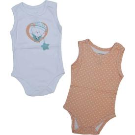 Zeyland K-61h2708 Bebek 2 Li Atlet Bady Beyaz-puanlı 9-12 Ay (74-80 Cm) Kız Bebek Body